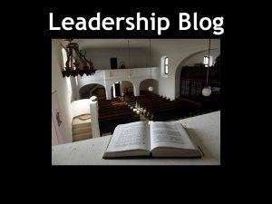 Leadership Blog