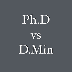 PhD DMin