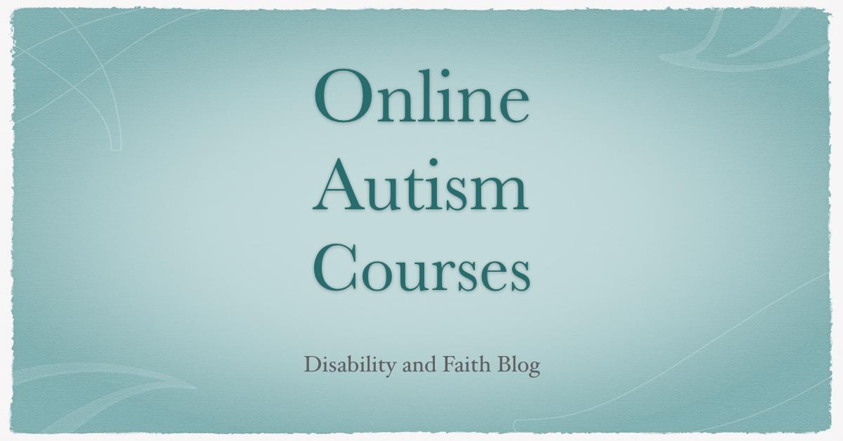 Online Autism Courses