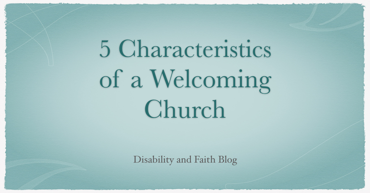 Welcoming Church