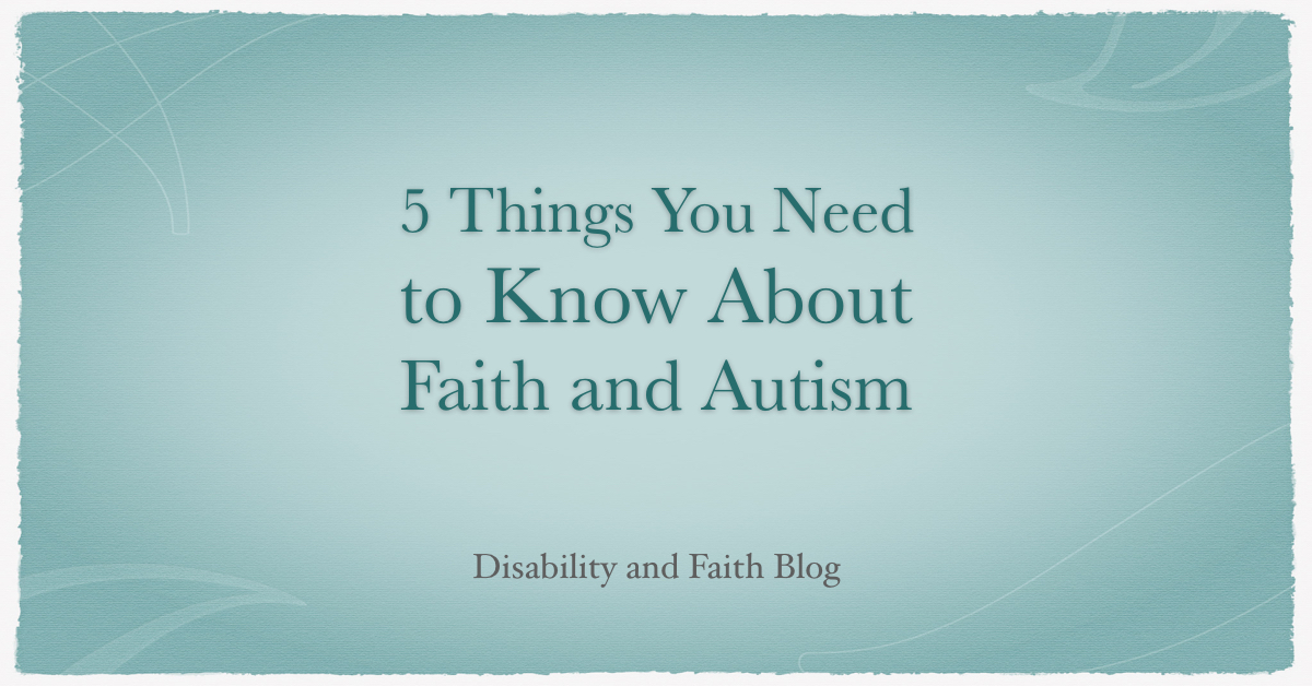 Faith and Autism