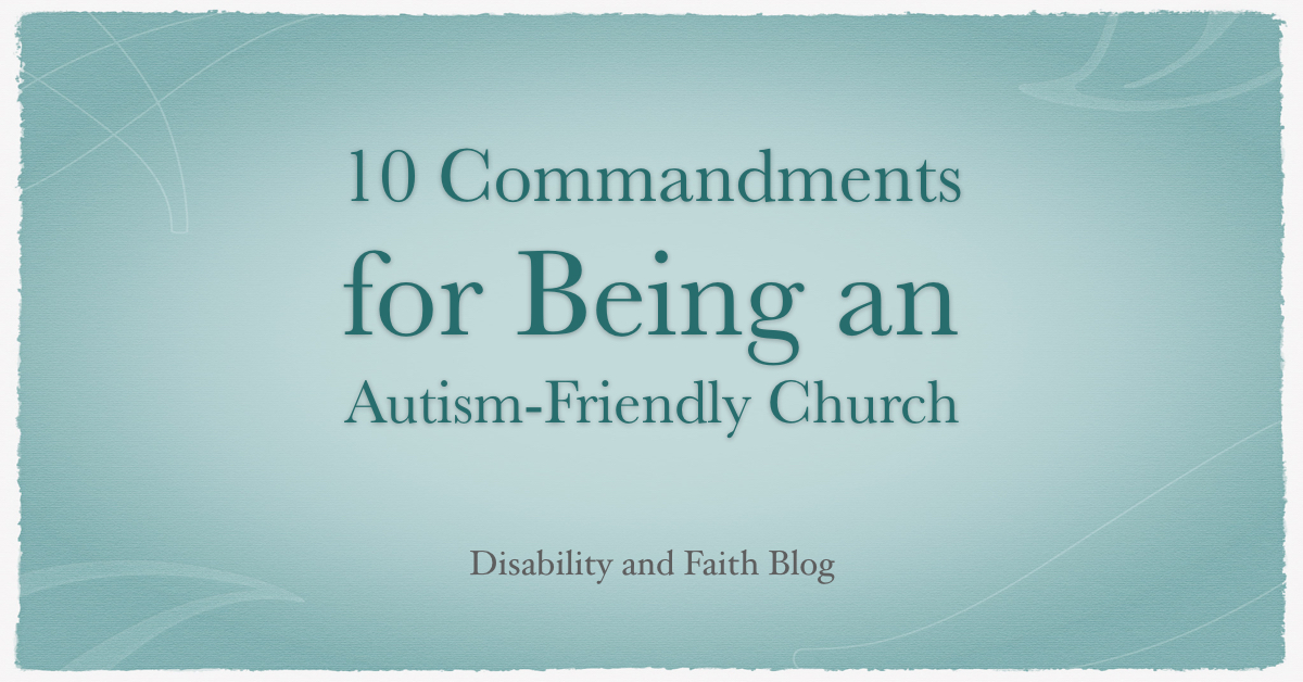 Autism-Friendly Church