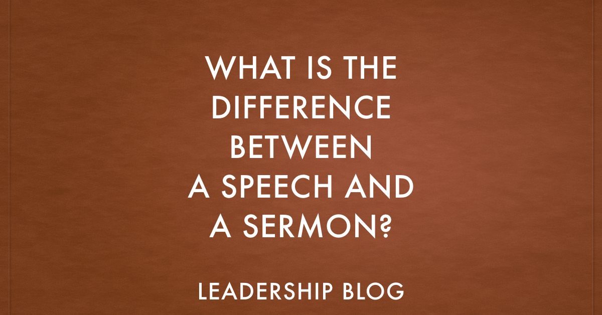 What Is The Difference Between A Speech And A Sermon  HopeS Reason