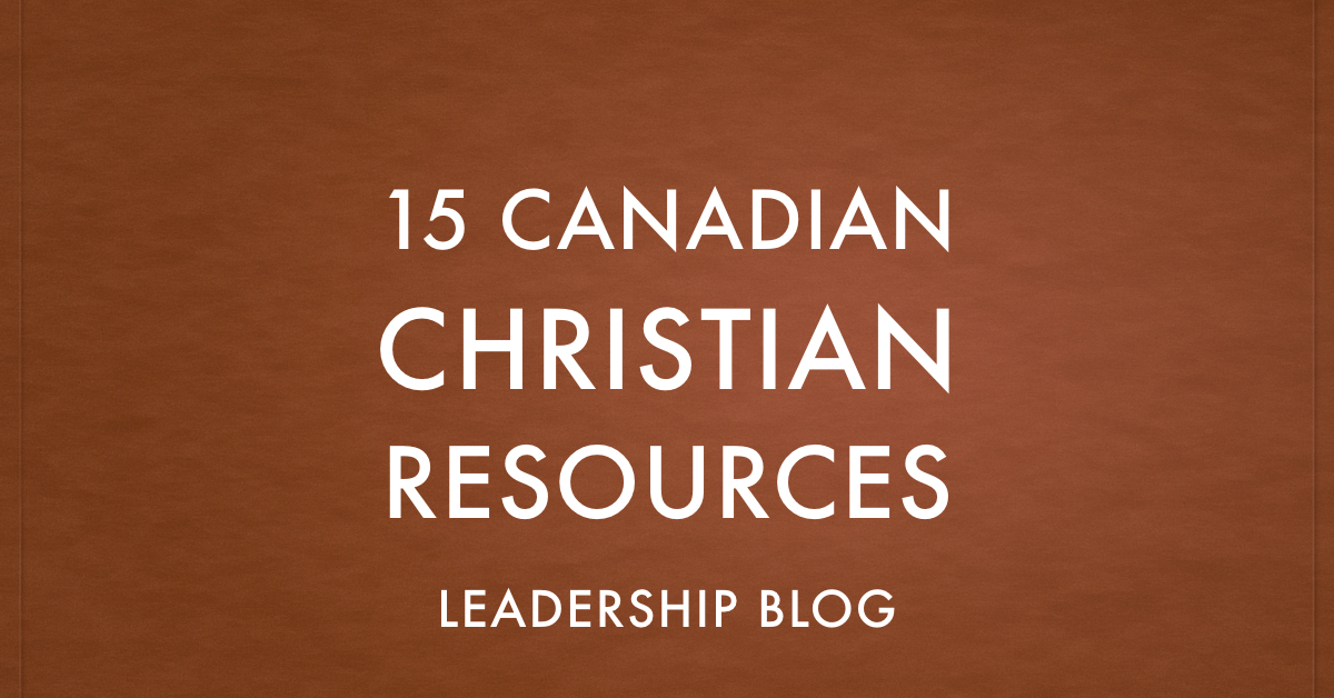 Canadian Christian Resources