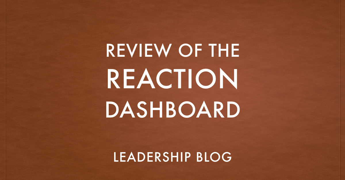 REACTION Dashboard
