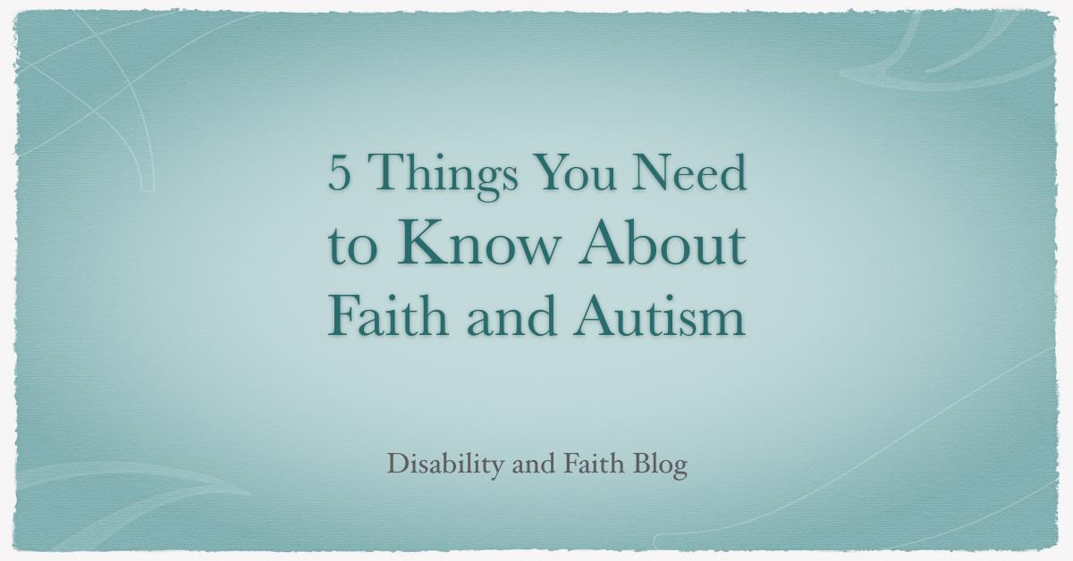 Faith and Autism