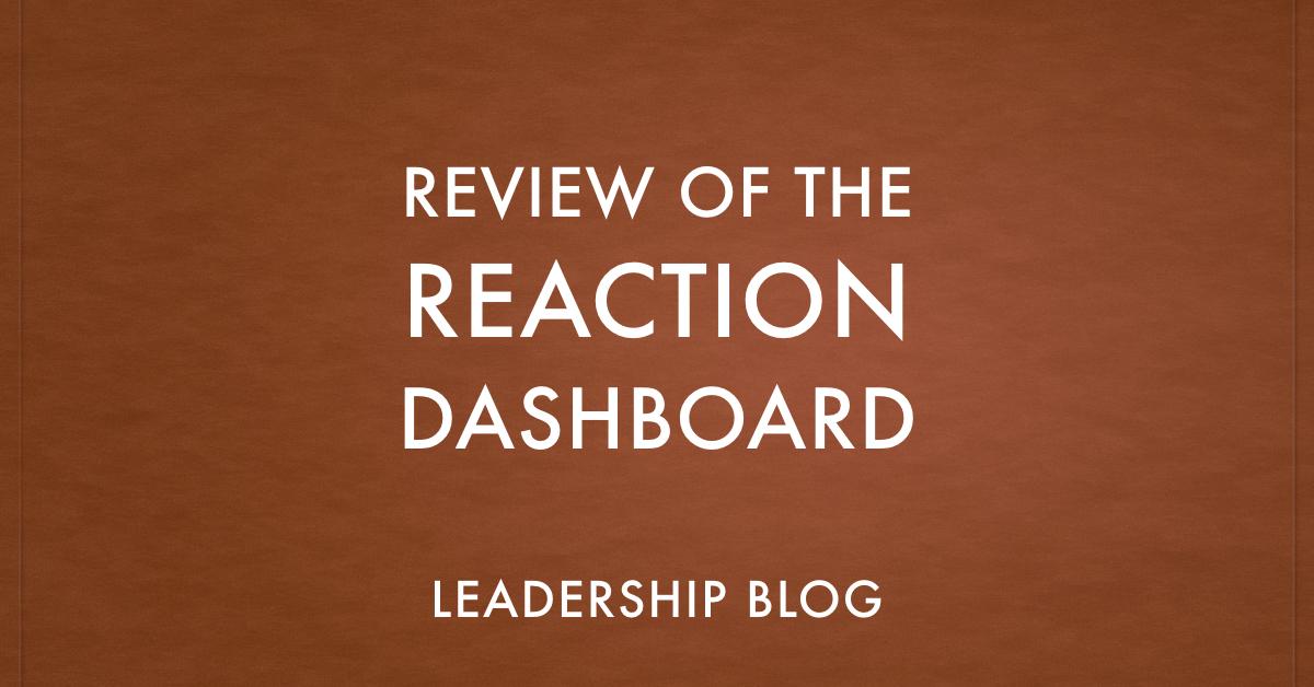 REACTION Dashboard