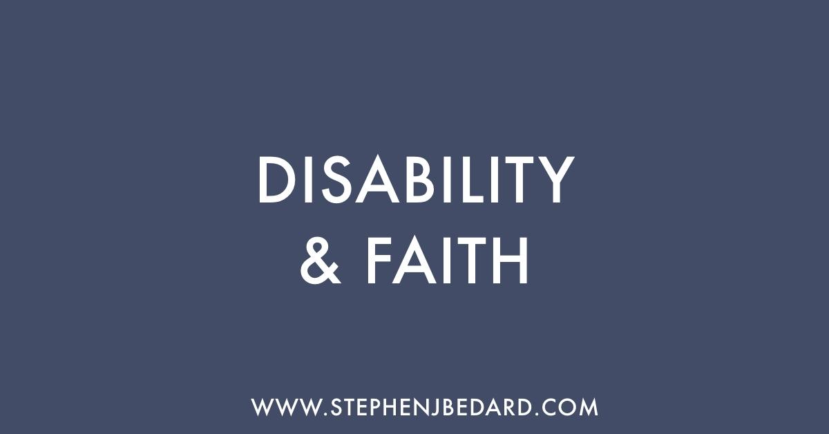 Disability and Faith
